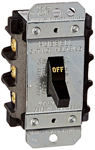 Hubbell HBL7843D 40 amp 600V 3 Phase Disconnect Switch