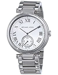Michael Kors Women's Skylar MK5866 Silver Stainless-Steel Quartz Watch with White Dial