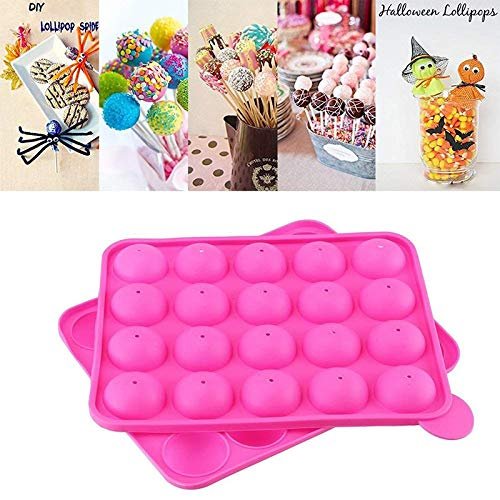 Cookie Cutter|Cake Molds|20 Hole Silicone Tray Pop Cake Stick Mould Lollipop Party Cupcake Baking Mold Ice Cream Sphere Maker Chocolate Mold|By REDDEATH by REDDEATH (Image #1)