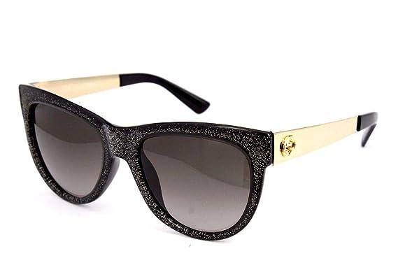 bf04de0b8 Amazon.com: Gucci GG 3739/S VJZHA (Pearl Black with Black Gradient ...