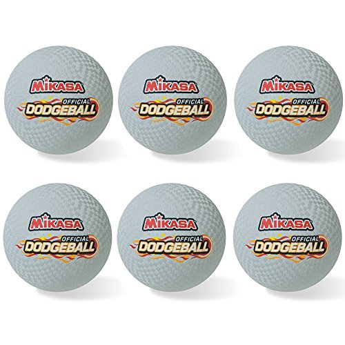 Mikasa Official 8.5'' Rubber Dodgeball Set of Six by Mikasa Sports