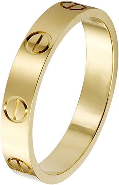 9b6c6c245076d Rose Gold Love Ring Couples Promise Engagement Wedding Band Titanium  Stainless Steel Size 5-10