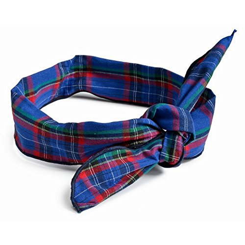 - Joe Cool Alice Band Wired Traditional Tartan Ribbon (Blue) Made With Cotton by