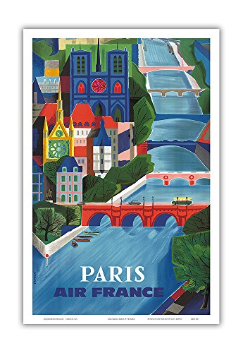 Paris, France - France - The Seine River - Vintage Airline T