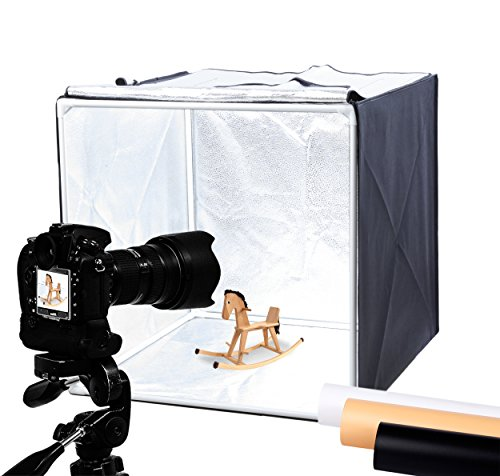 Finnhomy Professional Portable Photo Studio Photo Light Studio Photo Tent Light box Table Top Photography Shooting Tent Box Lighting Kit, 24'' x 24'' Cube by Finnhomy