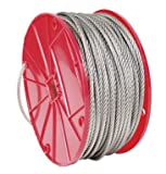 Koch 015072 3/32 by 250-Feet 7 by 7 Cable, Stainless Steel