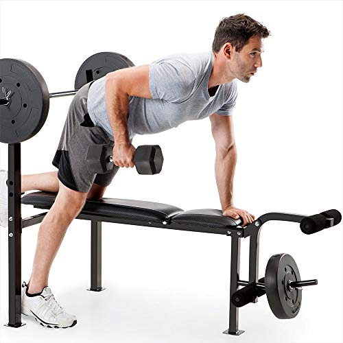 COMPETITOR Standard Bench & 80 LB. Weight Set