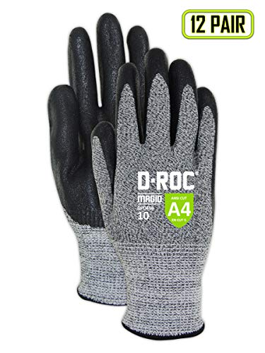 MAGID Cut Resistant Foam Nitrile Coated Gloves, Size 9 (12 Pairs)
