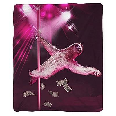 Sharp Shirter Stripper Sloth Blanket - 60 X 80 Inches