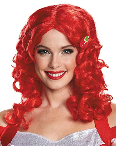 Disguise Women's Strawberry Shortcake Deluxe Adult Costume Wig, Pink, One -