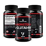 Pure Glutamine ★ Monster L-Glutamine x120 tablets (easy to swallow) ★ 1000mg Amino Acid ★ Supports Muscle Growth and Recovery + Boosts Immune System + Intestine Health