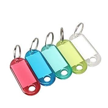 Claro varios colores 50 pcs plástico etiqueta de ...