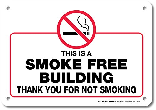 this-is-a-smoke-free-building-thank-you-for-not-smoking-laminated-sign-made-in-usa-10-x-7-040-rust-f