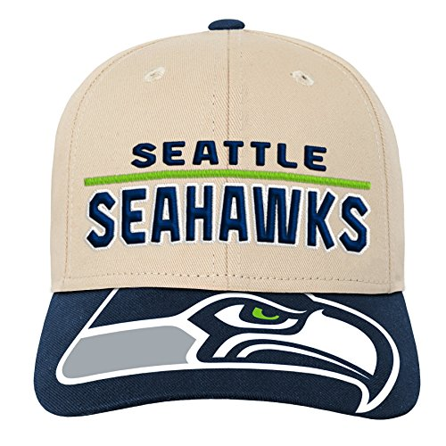 NFL by Outerstuff NFL Seattle Seahawks Youth Boys Retro Style Logo Structured Hat Dark Navy, Youth One Size