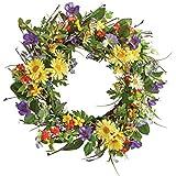 """Wild Daisy Floral Twig 19-1/2"""" Door Wreath"""