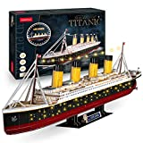 3D Puzzle Titanic LED Ship 34.6'' Large Model
