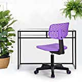 HOMY CASA Homycasa Children Kids Chair, Low-Back Armless Adjustable Swivel Ergonomic Home Office Student Computer Desk Chair, Hollow Star in color PURPLE