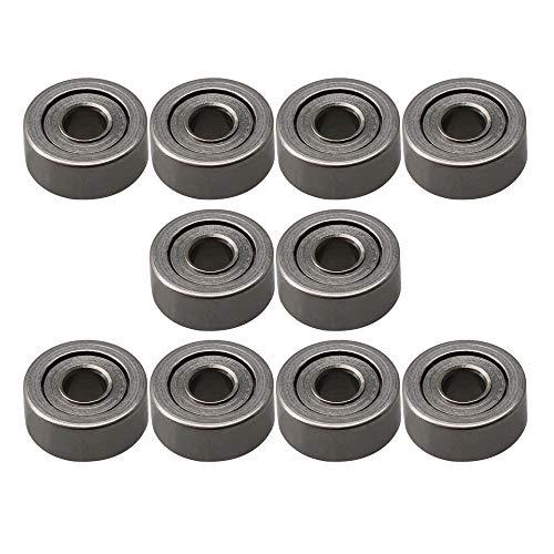 (CNBTR 2x6x2.5mm Bearing Steel Mini Groove Ball Bearings Sliding Wheels DIY Industry MR62ZZ Pack of 10 )