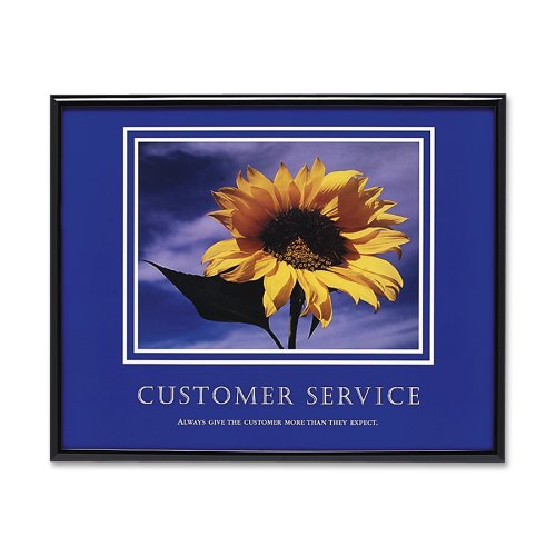 ADVANTUS Framed Motivational Print, Customer Service, 30 x 24 Inches, Black Frame - Best Print Seller Poster