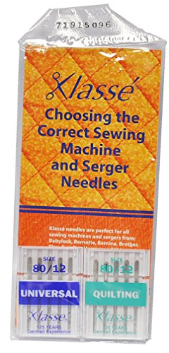 Klasse Two Pack Universal and Quilting Sewing Machine Needles