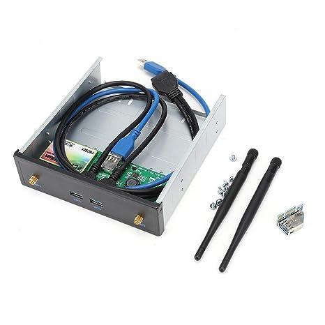 Kafuty Tarjeta de Red inalámbrica PCI-E Frontal Banda Dual 600 ...