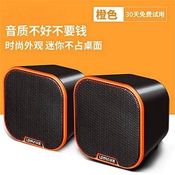 WANGZHAO Audio De Ordenador Portátil Mini Altavoz De Escritorio Mini USB,Orange: Amazon.es: Deportes y aire libre