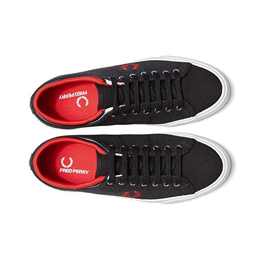 Fred Perry Kendrick con Punta in Pelle di Polsino, Scarpe da Tennis per Uomo Navy/Red (Canvas)