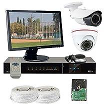 GW Security VD2CHH7 4 CH HD-SDI DVR 2 x HD-SDI 1/3-Inch 1.3 Megapixel CMOS Camera 720P 2.8 to 12 mm Manual Varifocal Lens