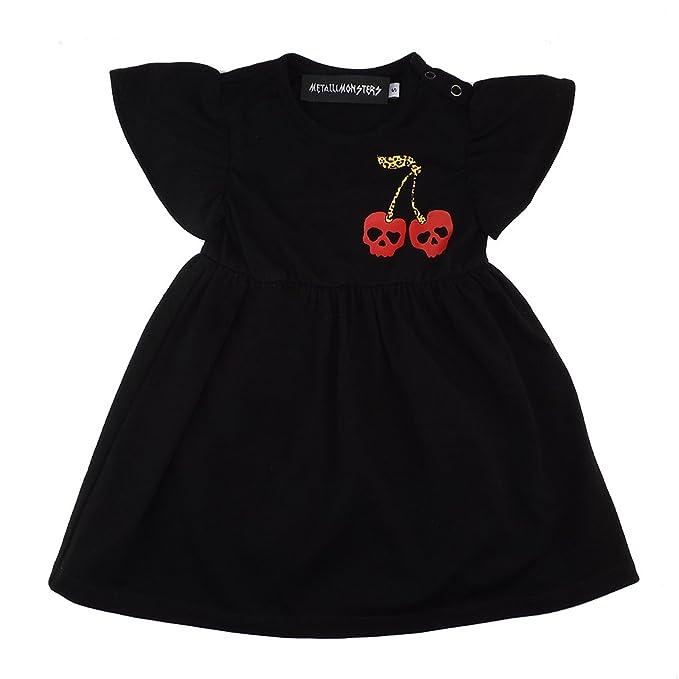 Metallimonsters negro calavera Cherry bebé vestido: Amazon.es: Ropa y accesorios