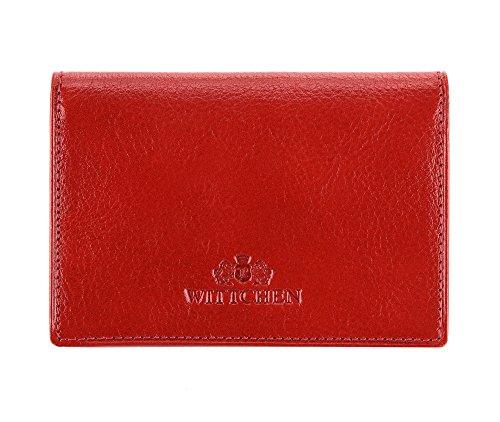 WITTCHEN caso, Rosso, Dimensione: 7.5x10.5 cm - Materiale: Pelle di grano - 21-2-036-3