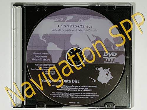 2016 GM North America Navigation DVD Map Update GM p/n: 23286273 9.0C V.2016