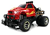 Velocity Toys Jungle Fire TG-4 Dually Electric RC Monster Truck Big 1:12 Scale RTR w Working Headlights - Dual Rear Wheels (Colors May Vary)