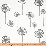 Premier Prints Dandelion Twill White/Storm Fabric By The Yard