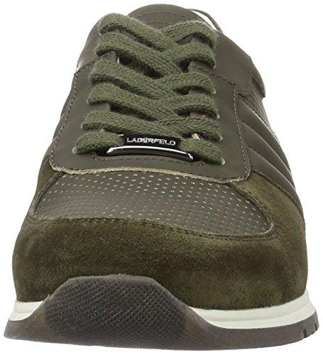 Karl Lagerfeld Derek, Sneaker Uomo Verde (Kaki)