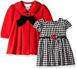 Bonnie Baby Baby Girls Coat Set, Rosette red, 3-6 Months