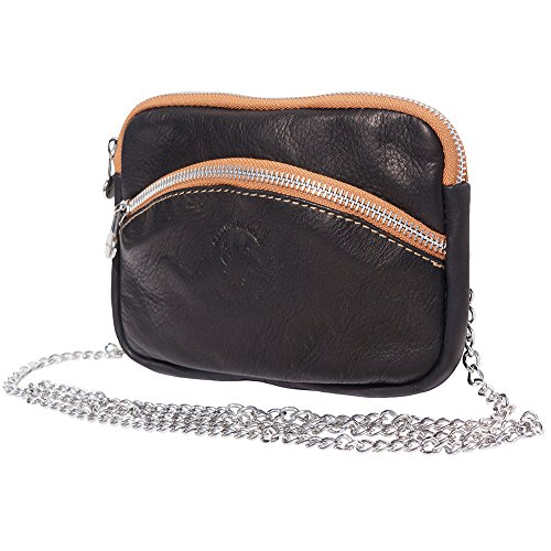 Black WITH PURSE SMALL B335 STRAP SMALL CHAIN tan PURSE SILVER WITH qIf4z