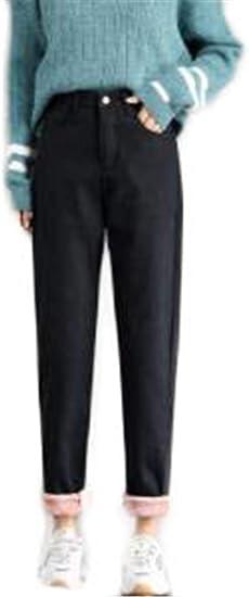 [セイーワイ] 裏起毛 防寒 デニム スキニー パンツ カジュアル 防風 スリム フィット ジーンズ レディース テーパードパンツ ハーレムパンツ 厚手 スリム