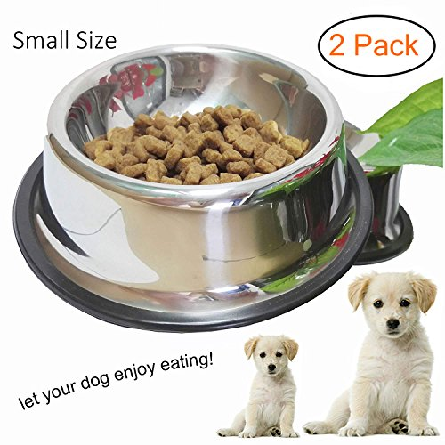 (Whippy Stainless Steel Dog Bowl For Small/Medium/Large Pets (set of 2))
