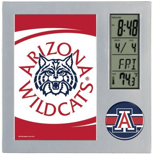 Desk Wildcats Ncaa (WinCraft NCAA University of Arizona Desk Clock, Black)