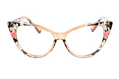 6496e89767 Amazon.com  LL Womens 2 Pack Cat Eye Reading Glasses Clear Flower Vintage  Retro (Assorted - 2 Pairs