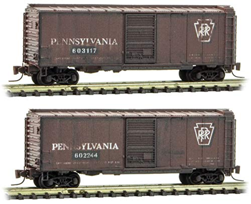Micro-Trains MTL Z-Scale 40ft Box Car Pennsylvania for sale  Delivered anywhere in USA