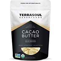 Terrasoul Superfoods Organic Cacao Butter, 1 Lb - Raw   Keto   Vegan   Unrefined