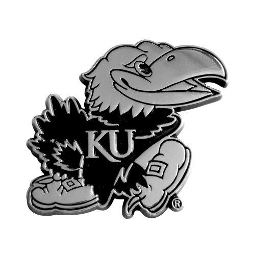 FANMATS  14908  NCAA University of Kansas Jayhawks Chrome Team Emblem by Fanmats