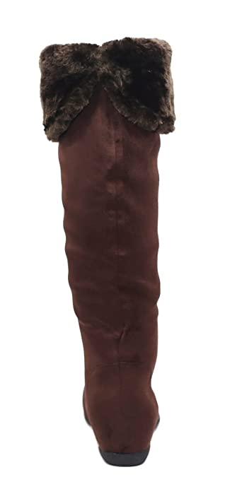 Amazon.com: Max Collection Womens Mid Calf Botas Plana ...