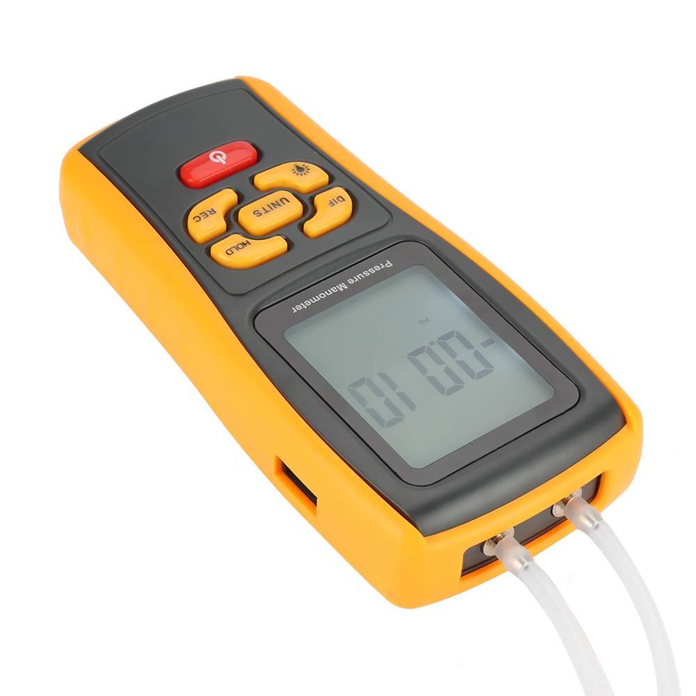 GM520 Digital LCD Display Pressure Manometer 150kPa Air Vacuum Gas Portable Differential Handheld Pressure Gauge 11 units Testing with backlight LCD display