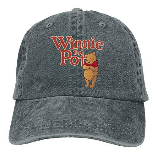NEXT DAY ONE Donkey Piglet Winnie Pooh Eeyore Baseball Caps Adjustable Denim Fabric Hat Deep Heather