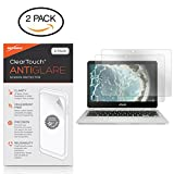 ASUS Chromebook Flip C302CA Screen Protector, BoxWave [ClearTouch Anti-Glare (2-Pack)] Anti-Fingerprint Matte Film Skin for ASUS Chromebook Flip C302CA