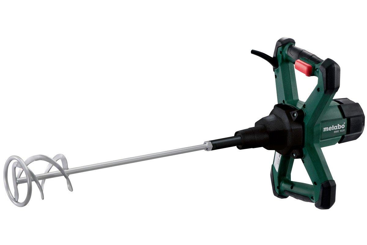 Metabo 614044000 Rü hrwerk RWE 1020 | + Rü hrstab Typ RS-R2 | ergonomische Griffe / Gummiecken am Gehä use / Vario-Elektronik (1020 W | Leerlaufdrehzahl: 0 - 900 /min | 3.1 kg) Metabowerke GmbH