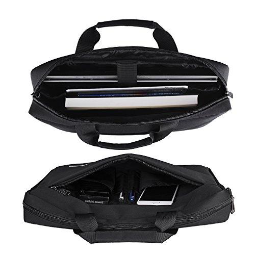 Laptop Bag, Mayetori 15.6 Inch Laptop Briefcase for Men Women College Student, Business Computer Messenger Shoulder Bag, Water Resistant Laptop Case for Notebook MacBook Tablet by Mayetori (Image #2)
