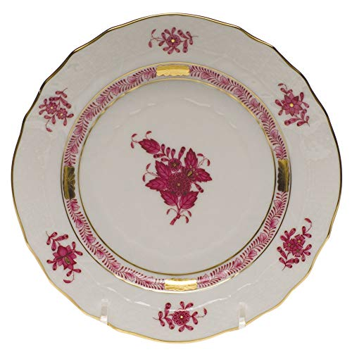 Herend Chinese Bouquet Raspberry Porcelain Bread & Butter Plate